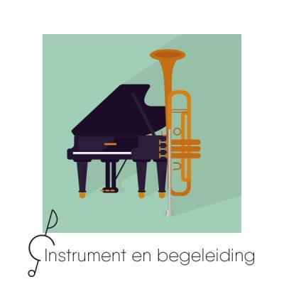 Melodie-instrument met begeleiding
